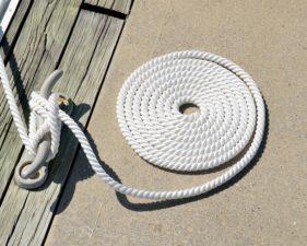 yacht equipment, knot, marine, dock, rope