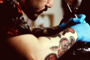 Tattoo kunstenaar, portret,