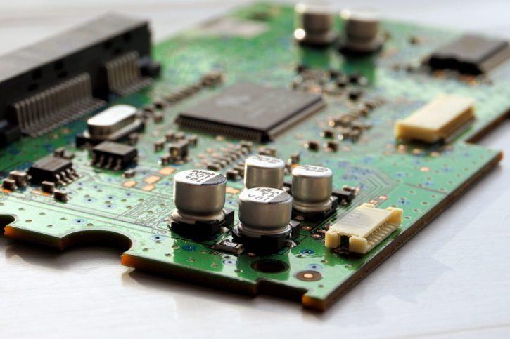 Technologia, tranzystor, chip, elektroniki, sprzętu, płyta główna, circuits, komputer