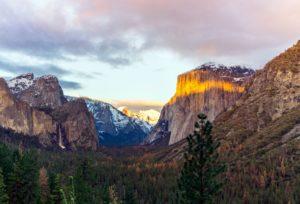 δάσους, πάγο, τοπίο, μεγαλοπρεπής, ορεινό βράχο, δέντρα, κοιλάδα, βουνά, φύση, βράχια
