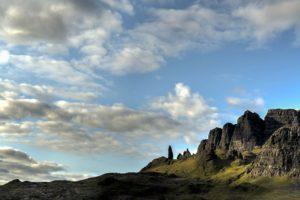 bjerg, klipper, scenic, sunset, rejser, dalen, skyer, dawn, dagslys, skumring, geologi