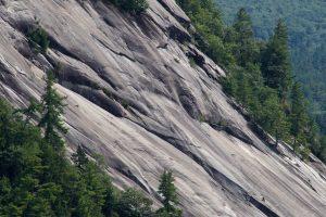rocky hill, rocks, trees