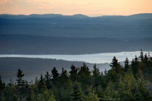 natural park, fog, mist, nature, landscape, mountains, sky, clouds, trees, water