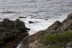 coast, overlooking ocean, rocky beach, ocean, water, rocks