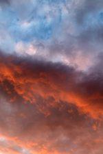 orange sky, nature, sky, clouds, sunset