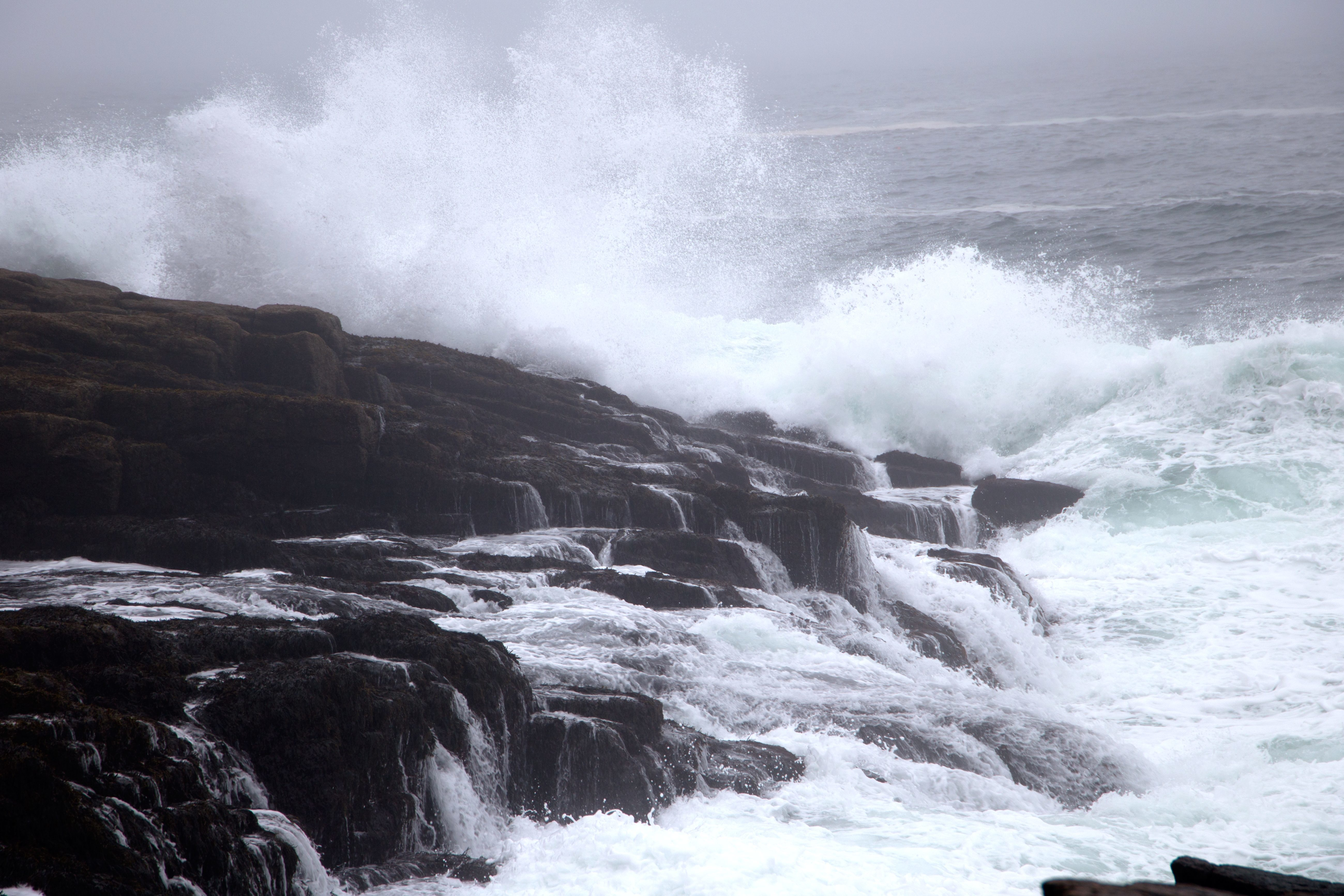 Free Picture Windy Weather Nature Ocean Water Rocks
