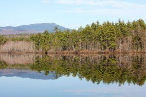 water reflectie, zon, bergen, meer, water