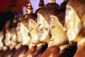 Dieu, l'or, la religion, statues, culte, Bouddha sculpture, Bouddhisme