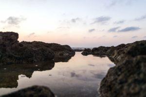 rocks, rocky coast, sea, seashore, sky, water