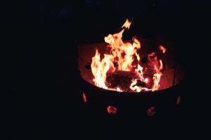 oheň, krb, plameny, vypalování, táborák