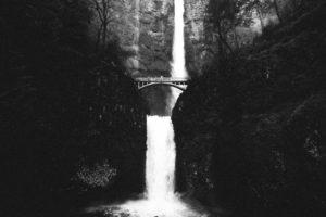 chute d'eau, lac, paysage, nature, rivière, les arbres, l'eau