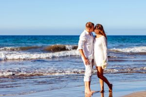 wedding couple, young couple, romance, beach, love