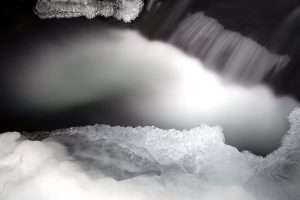 icy water, frost, nature, water, ice, winter, stream