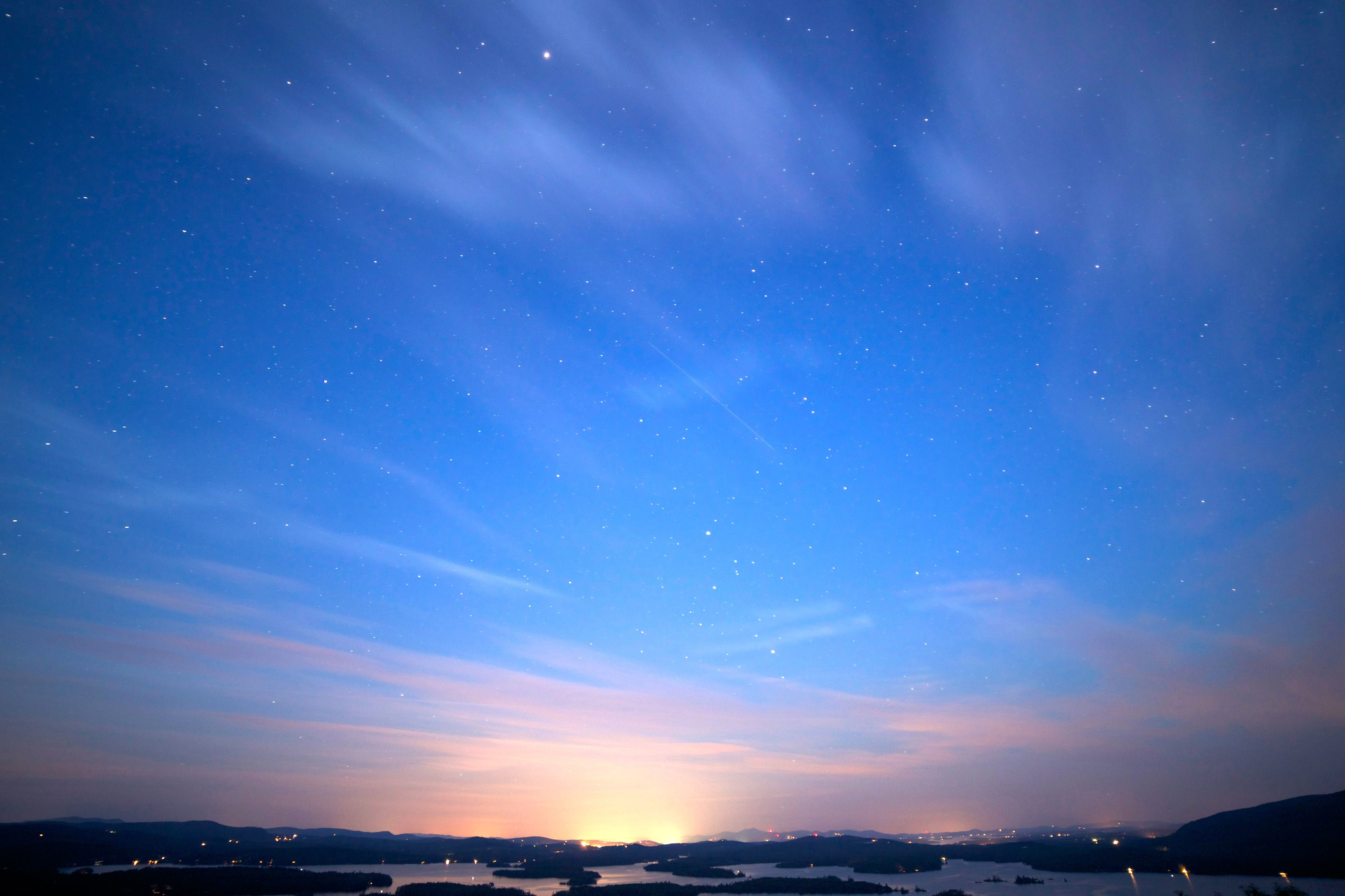 Free Picture Beautiful Sky Stars Stars Clouds Night