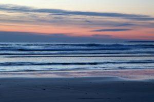 winter time, sea, nature, landscape, ocean, sunrise, beach, water, clouds