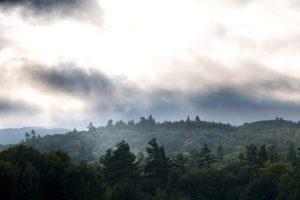 σύννεφο, γκρι ομίχλης, φύση, τοπίο, ομίχλη, δέντρα, βουνά, ουρανό, σύννεφα