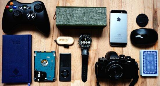 retro, Smartphone, Tagebuch, Platte, Elektronik, Ausrüstung, Geräte, Spiel, Controller