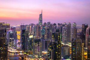 arkitektur, bygninger, byen, lys, tårn, urban, skyskrabere, downtown Dubai