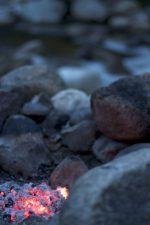 campfire, flames, rocks, fire, camping, rocks
