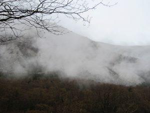 γεροπαράξενος πρωί, χειμώνα, χιόνι, μονοπάτι, ορειβασία