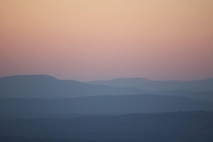 ομίχλη το πρωί, αυγή, βουνά, ουρανό, Ανατολή, σιλουέτα, τοπίο