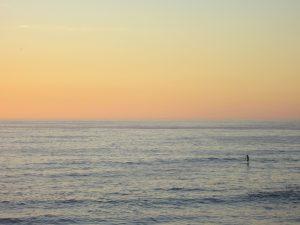 ocean, fisherman, dawn, ocean, water, sunset, surf
