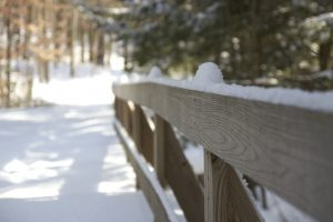 wooden fence, winter, snow, trail, hiking