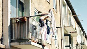 balcony, apartment, architecture, urban scene, window, house