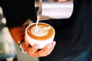 coffee, caffeine, cappuccino, restaurant, table, beverage, breakfast