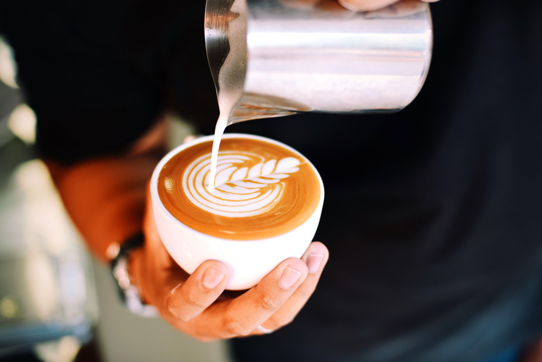 free picture  coffee  caffeine  cappuccino  restaurant  table  beverage  breakfast