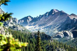 планински, пейзаж, планина, небето, пътуване, дървета, гора, сняг, облаци