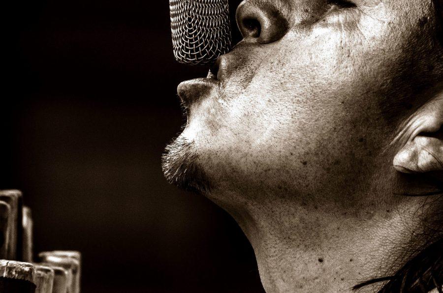 man, microfoon, zanger, man, hoofd, portret, Kaukasische, gezicht, musicus
