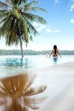 beach, sea, tropical paradise, sand, vacation, ocean, travel, sky