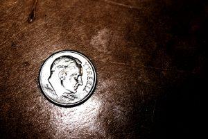 antiquité, art, cent, bureau en bois, pièce d'argent, l'argent