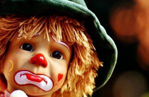 sad clown, face, doll, toy, portrait