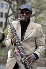 saxofón prehrávača
