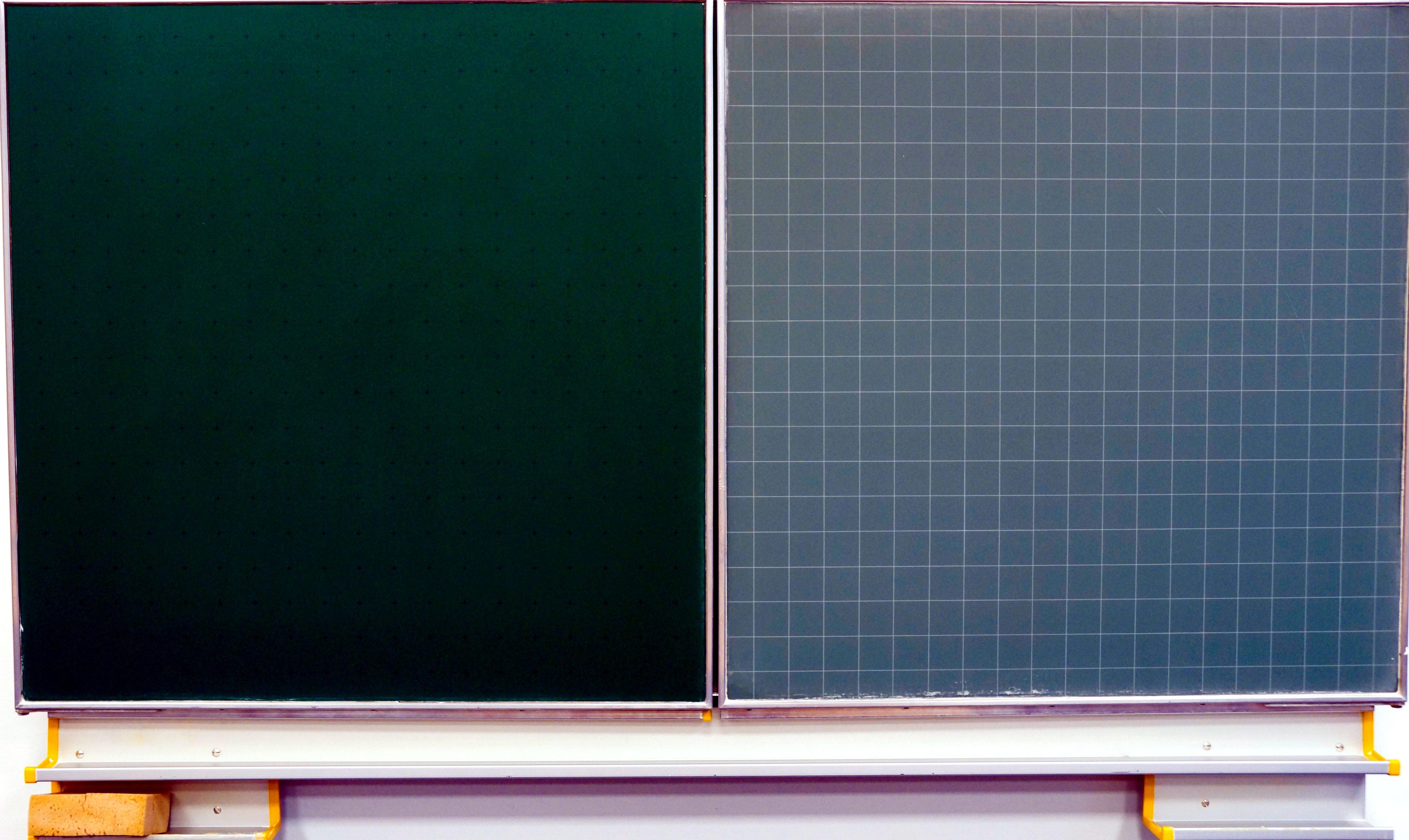 blank gridded chalkboard