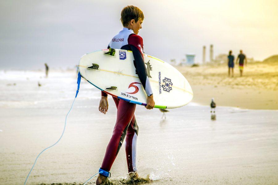 Kostenlose Bild: Junge, Surfer, Überschrift, Strand