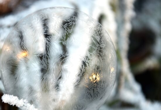 crystal ball, cold, frozen