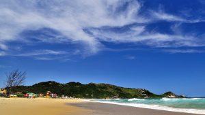 playa, costa, montaña, mar, nubes, cielo