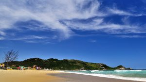 beach, coast, mountain, sea, clouds, sky