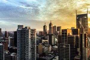 일출, 건물, 건축, 타워, 스카이 스크 래퍼