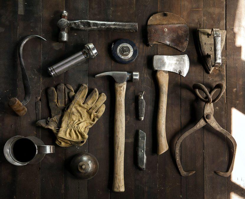 strumenti di falegname, dest, retro