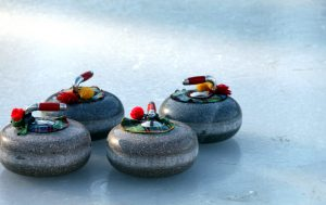 curling sport, pierres, glace