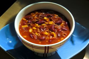 delicious chili, food, stew, bowl