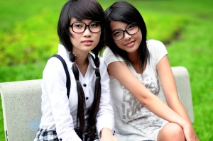 pretty Asian girls, portrait