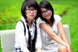 docela ázijské dievčatá, portrét