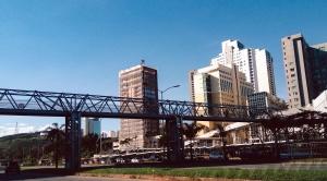 city, sky, architecture, bridge, transportation