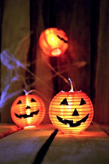 Jack O'Lantern, lys, Halloween, heftig