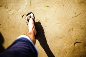 Pantai Sepatu, kaki, pasir, laut, seashore